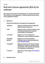 End User License Agreement Eula For Software Model Template