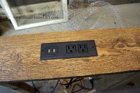 wood working diy how to build a console table charging station for your living room and