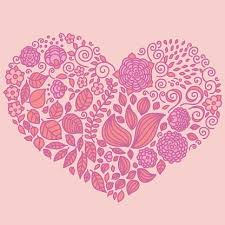 Tattoo Floral Doodle Vector Elements Set In Heart Premium Clipart