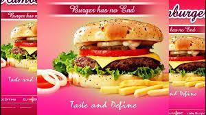Flyer Design Food Photoshop Tutorial Food Flyer Design Burger Adobe Photoshop