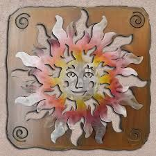 save 20 165374 34in happy face sun panel 3d southwest metal wall art sunset