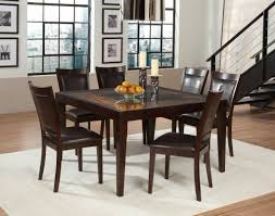 admirable dining chair decoration ideas feature square gl top dining table with espresso wooden dining table