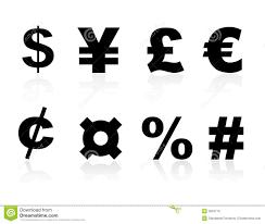 Currency Symbols Stock Vector Illustration Of Debt Commerce 3924710
