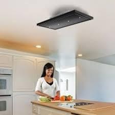 luxair la 120 verde stratos blk 120cm x 60cm verde recirculating only ceiling hood in black 1 x led strip light