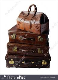 Old Suitcases Vintage Leather Suitcases Picture