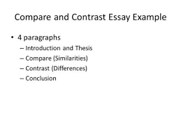 writing a compare contrast essay about literature ppt video compare and contrast essay example