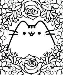 Kawaii Coloring Pages Cute Cat Coloring Pages Cute Kawaii Printable