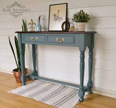 blue console table. Vintage Console Table Painted In Fusion Mineral Paint \u0027Homestead Blue\u0027. Www.rawrevivals.com.au Blue P