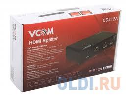 <b>Разветвитель HDMI Splitter</b> 1 to 2 HDP102 <b>VCOM</b> VDS8040D ...