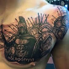 50 Spartan Tattoo Designs For Men Masculine Warrior Ideas