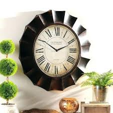 wonderful oversized white wall clock exciting clocks black wooden og distressed wh