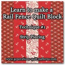 Beginning Quilting: Rail Fence Quilt Block Tutorial &  Adamdwight.com