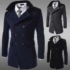 men jacket coat slim fit men casual trench coat mens winter coats mens man wool uk style outwear overcoat trench coats with 41 92 piece on