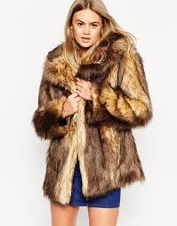 black vintage faux fur coat vinted co uk