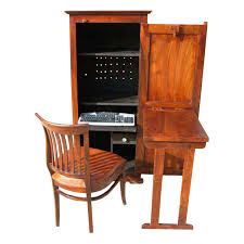 solid wood computer hutch desk storage cabinet