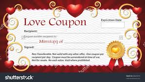 blank printable love coupon gift minutes stock illustration a blank printable love coupon gift minutes