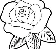 Beautiful Flower Coloring Pages Printable Simple For Girls Flowers