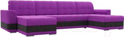 <b>Лига</b> Диванов Честер / 100087 (вельвет фиолетовый/черный ...