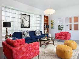 Moroccan lounge furniture Minimalist View In Gallery Combine Trendy Chevrom Patterns With Colorful Ottomans In The Living Room Homegramco Moroccan Living Rooms Ideas Photos Decor And Inspirations