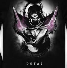 dota 2 black zip up hoodies for teens templar assassin lanaya