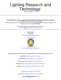 Compare And Contrast Sound And Light Pdf The Performance Of Occupancy Based Lighting Control