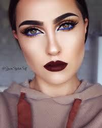 fall look with a pop of blue makeup tutorial makeup geek