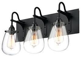 industrial bathroom vanity lighting. Industrial Bathroom Lighting 3 Light Vanity Satin Black R
