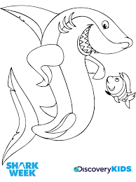 Small Picture Shark Friend Coloring Page Discovery Kids