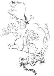 Kids N Fun Kleurplaat Winnie De Pooh Pooh Met Taart Verjaardag