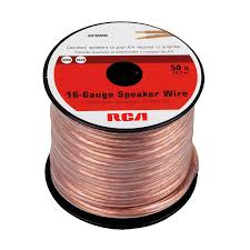 speakers wire. rca 50-ft 16-2 standard speaker wire speakers