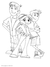 Coloring Page Wild Kratts Coloring Pages