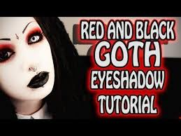 red and black goth eye makeup tutorial toxic tears you toxic tears goth eye makeup black goth and eye make up tutorials