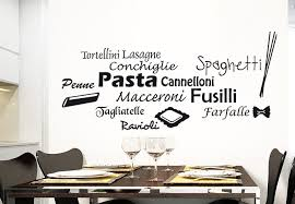 wall words  on vinyl wall art words stickers with pasta selection wall decal kitchen vinyl decor