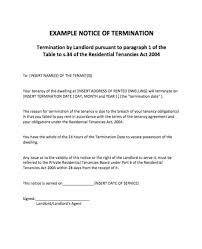 sample letters of termination notice of termination template business