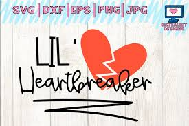 340x270 dinosaur svg love svg valentines svg dinosaur cut file. Lil Heartbreaker Svg Valentine S Day Kids Valentine 187183 Cut Files Design Bundles