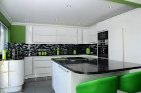 White Gloss Kitchen Worktop Bold Statement White Gloss Kitchen Newrooms Newrooms