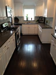 kitchens with white cabinets and dark floors. Kitchen White Cabinets Dark Floors Photo - 1 Kitchens With And