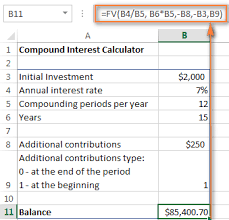 savings excel spreadsheet compound interest formula and calculator for excel