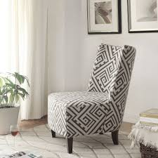 Living Room Chairs Canada Nspire Valentina Accent Chair Grey White 403 261 Modern