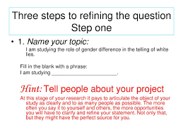 The Research Process From Topic To Question Ppt Download