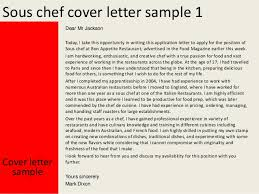 Cover Letter Sous Chef Sous Chef Cover Letter Magdalene Project Org