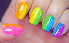 Rainbow Nails (Sponge Gradient) - YouTube