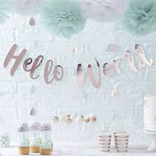 baby shower banners hello world baby shower decorations tableware party packs range