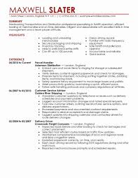 Sample Logistic Resume Best Of Cosy Logistics Management Specialist ...