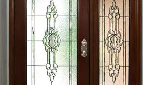 stained glass side lights glass door