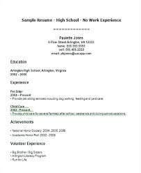 Examples Of High School Student Resume Classy Job Resume Examples For Highschool Students High School Sample