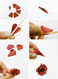 How To Make A Flower Out Of Paper Step By Step Make This Paper Flower Hair Accessory Diy Paper And Stitch
