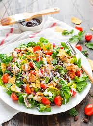 fresh garden salad with chicken. Interesting Fresh This BBQ Chicken Salad Recipe Is So Fresh Filling And Healthy Too With Fresh Garden