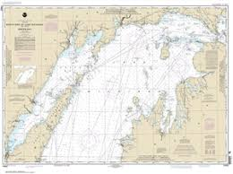 Great Lakes Navigation Charts 14902 North End Of Lake Michigan Including Green Bay Nautical Chart