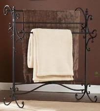 Standing Quilt Rack | eBay & Blanket Rack Holder Iron Quilt Towel Display Stand Vintage Storage Home  Black Adamdwight.com
